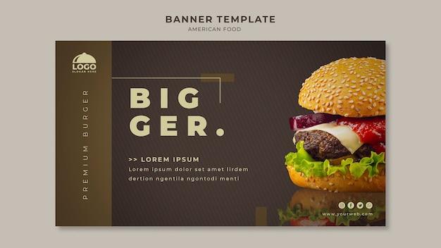 Modèle de bannière de burger