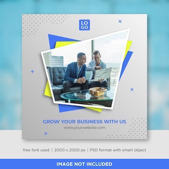 Modèle de bannière business social media