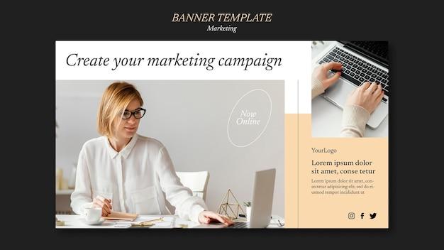 Modèle de bannière de campagne marketing