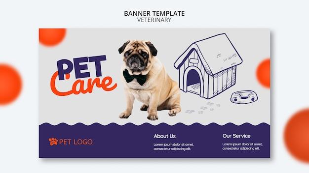 Modèle de bannière avec chien