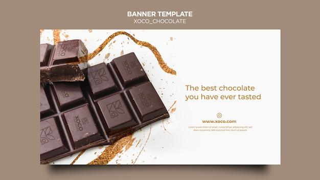 Modèle de bannière de chocolat xoco