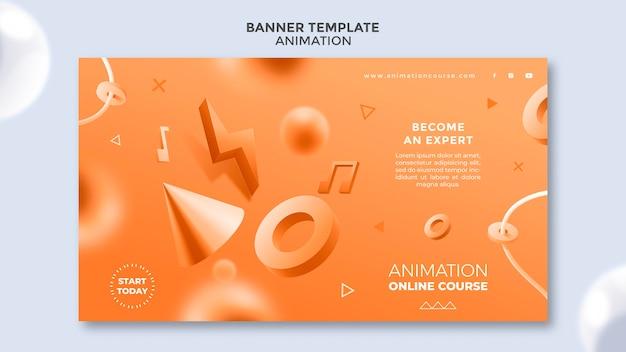 Modèle de bannière de classe d'animation