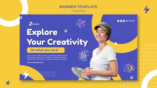 Modèle de bannière de classe d'art en ligne