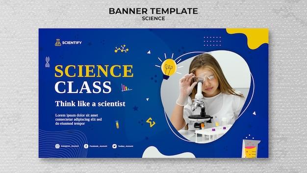 Modèle de bannière de classe de sciences