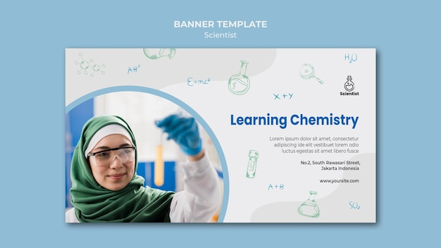 Modèle de bannière de club scientifique