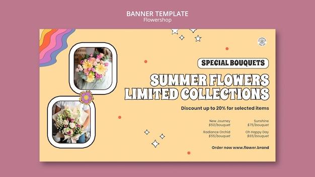 Modèle de bannière de collection limitée de fleurs