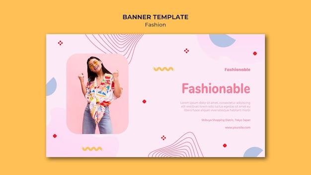 Modèle de bannière de collection de mode