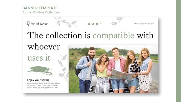 Modèle de bannière de collection de vêtements de printemps