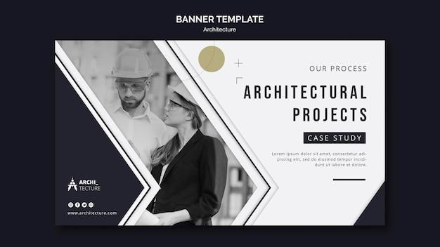 Modèle de bannière de concept d'architecture