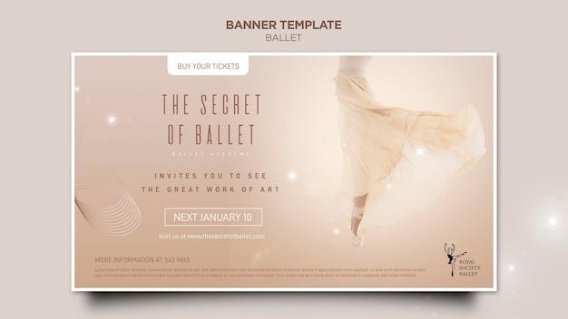 Modèle de bannière de concept de ballerine
