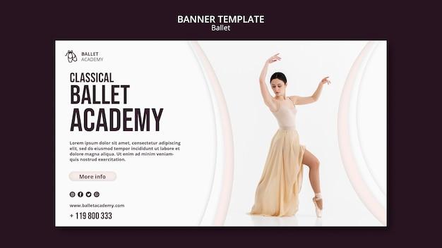 Modèle de bannière de concept de ballet