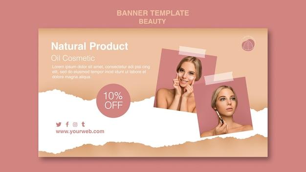 Modèle de bannière de concept de beauté