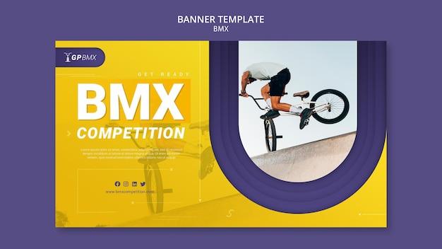 Modèle de bannière de concept bmx