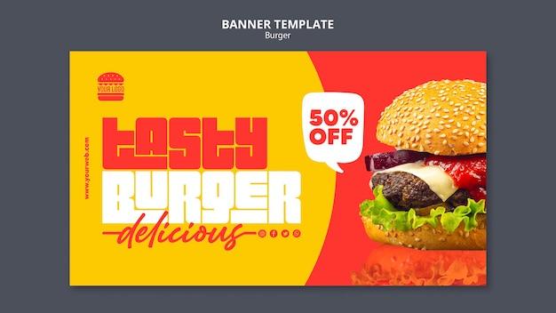 Modèle de bannière de concept burger
