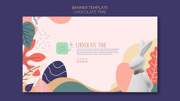 Modèle de bannière avec concept chocolat