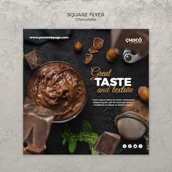 Modèle de bannière de concept de chocolat