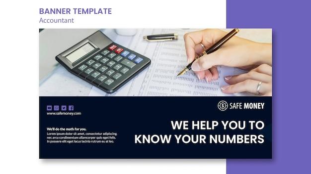 Modèle de bannière de concept comptable