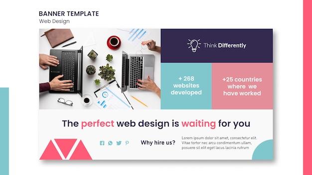 Modèle de bannière de concept de conception web