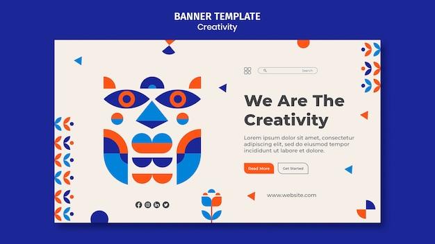 Modèle de bannière de concept de créativité