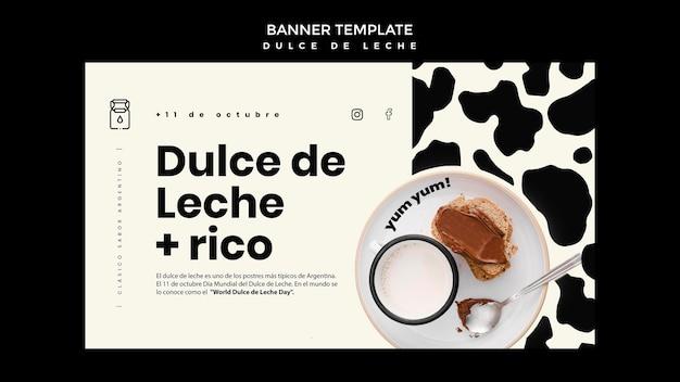 Modèle de bannière concept dulce de leche