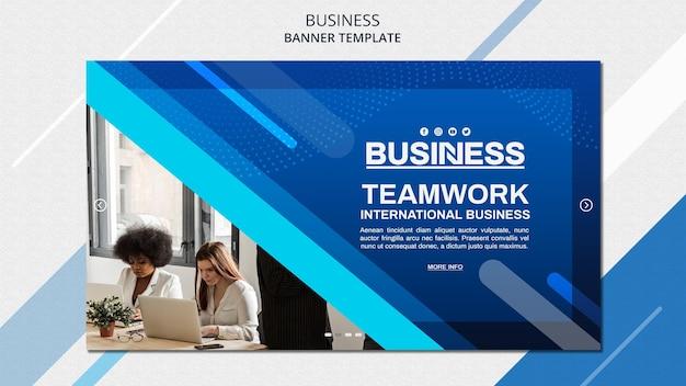 Modèle de bannière de concept d'entreprise