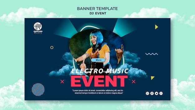 Modèle de bannière de concept de fête musicale