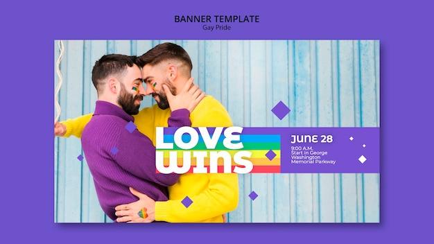 Modèle de bannière de concept gay prinde