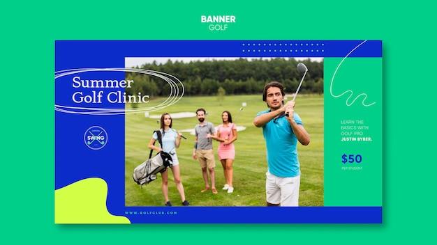 Modèle de bannière de concept de golf