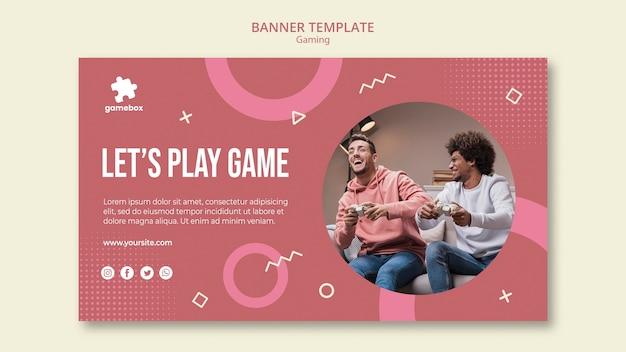 Modèle de bannière de concept de jeu