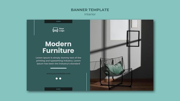 Modèle de bannière de concept de meubles