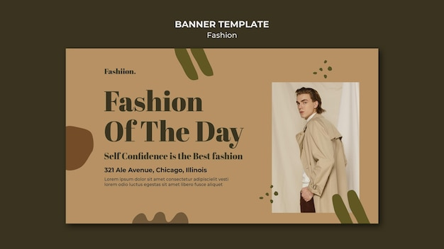 Modèle de bannière de concept de mode
