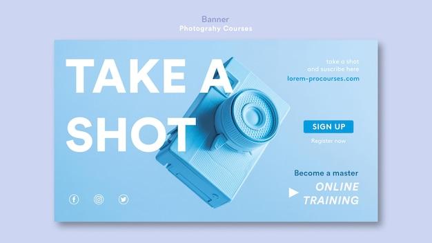 Modèle de bannière de concept de photographie