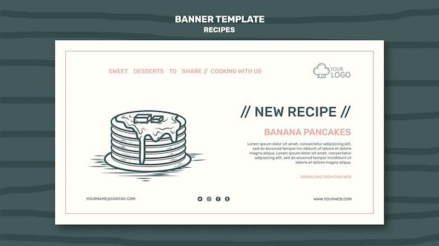 Modèle de bannière de concept de recettes