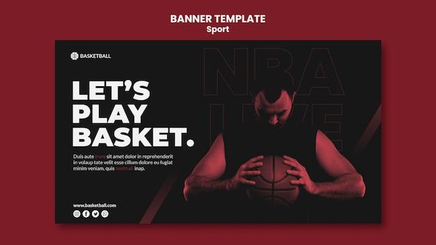 Modèle de bannière de concept de sport