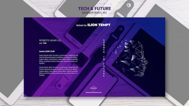 Modèle de bannière de concept tech & future