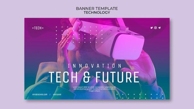 Modèle de bannière de concept technologique
