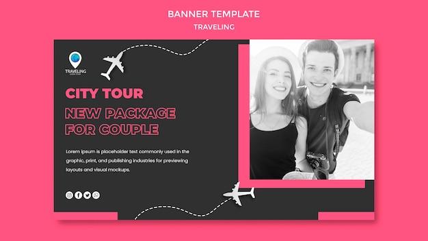 Modèle de bannière de concept de voyage