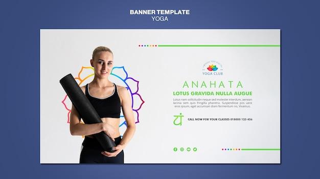 Modèle de bannière de concept de yoga