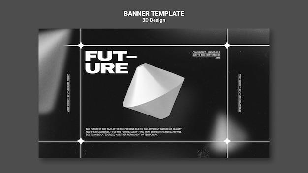 Modèle de bannière de conception 3d