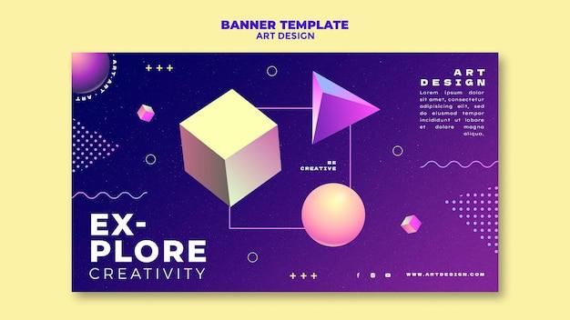 Modèle de bannière de conception artistique