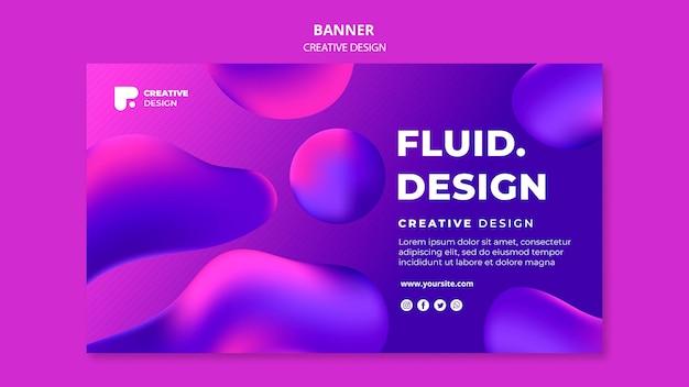 Modèle de bannière de conception fluide