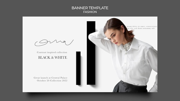 Modèle de bannière de conception de mode