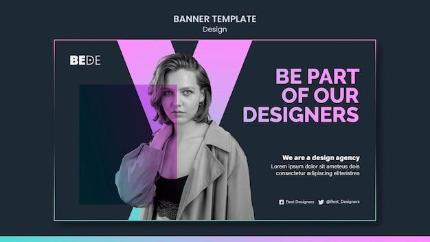 Modèle de bannière de conception