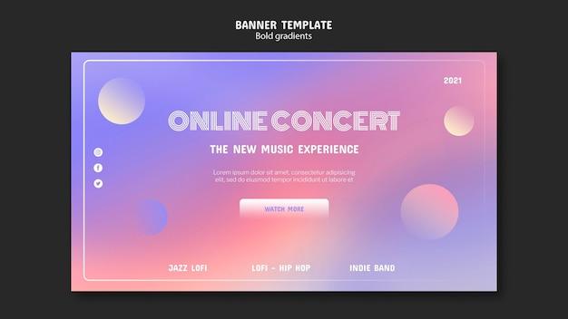 Modèle de bannière de concert en ligne