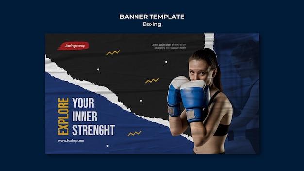 Modèle de bannière de concours de boxe