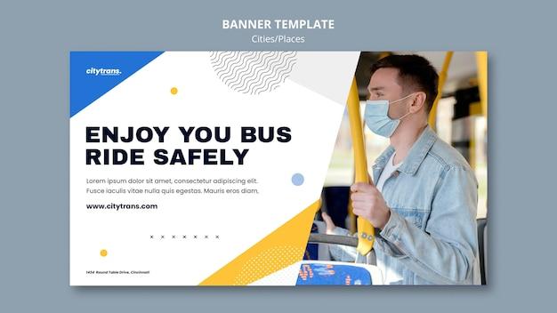 Modèle de bannière de conduite en toute sécurité
