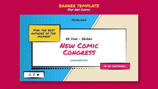 Modèle de bannière de congrès comique