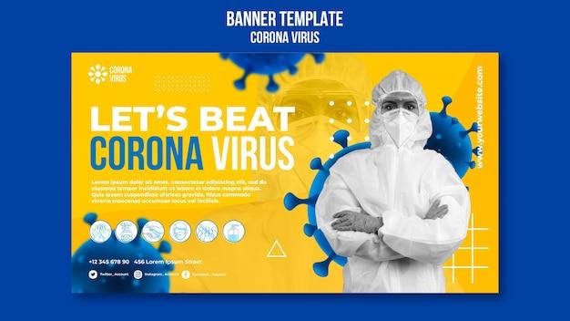 Modèle de bannière de coronavirus