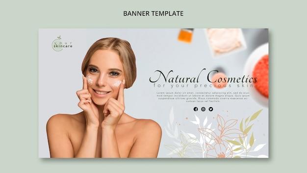 Modèle de bannière cosmétiques naturels