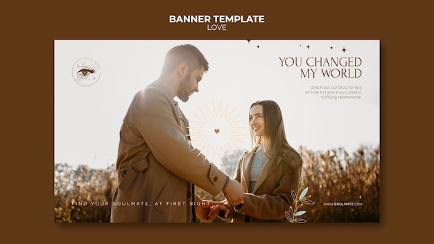 Modèle de bannière de couple charmant